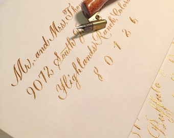THE Love Script Wedding Envelope Calligraphy