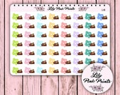 56 Lazy Day Stickers L-16 - Perfect for Erin Condren Planner Stickers / Life Planners / Journals / Stickers.