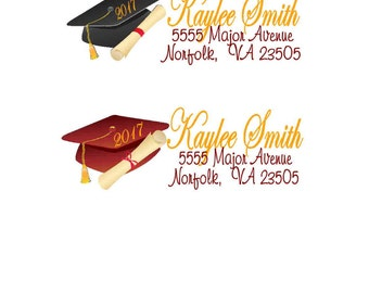 30 Address Labels Birthday Party Stickers Personalized graduation return any colors class