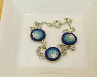Micro mosaic bracelet - blue nuance
