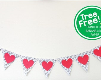Valentine's Minimalist 6-ft Banner (Printed on Banana Paper, Not Trees!)
