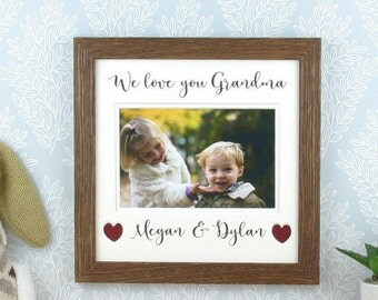 personalised picture frame for grandma we love you grandma or any other title holds a 4 x 6 photo