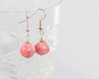 Pink statement earrings, Pink everyday earrings, Baby pink earrings, Everyday earrings, Earrings every day, Statement earings 10mm 0.4in