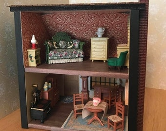 1:48 Quarter Scale Cottage Dollhouse Miniature