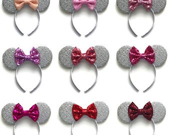 Minnie Mouse Kids Sequin Ears Mickey Mouse Sequin Ears Children's Sequin Ears