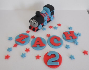 Handmade Thomas the Tank Engine Cake Topper, birthday