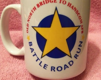 Ceramic coffee mug - Battle Road Run (foot race on the Battle Road from the Old North Bridge in Concord, MA to Hanscom AFB)