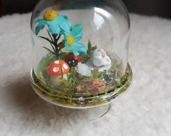 Mini Glass Dome Fairy Garden