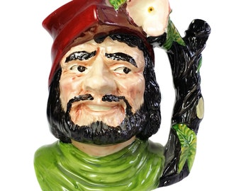 Oldcourt Ware Little John Toby Character Jug England Hand Painted Ceramic