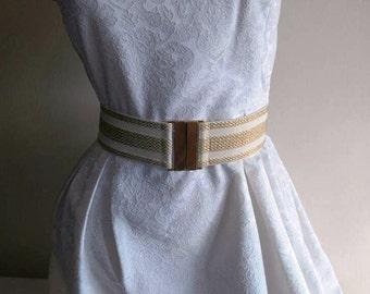 Gold belt, dress belt, gold waist belt, wide gold belt, woman waist belt, elastic gold belt, wedding dress belt, bridal gold belt