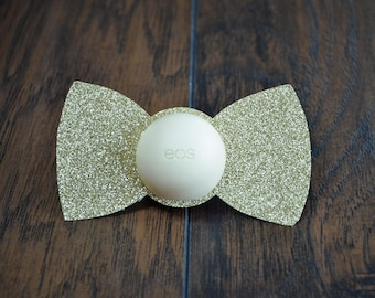 eos Lip Balm Holders / Set of 12 - Baby Shower Favor - Baby Boy - Bow Tie
