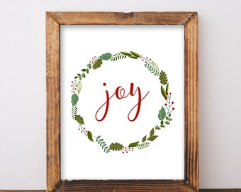 Digital Download Joy Printable 5x7 and 8x10