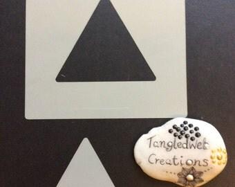 A set of x2 Triangular reusable stencils