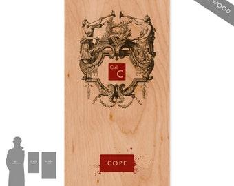 Crtl-C (Red) - Large Pop Art Print on Wood