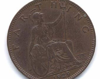British George V Farthing 1929