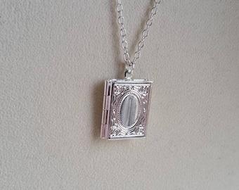 Book Pendant, Book Locket, Book Necklace, Literary Pendant, Literary Gift, Student Gift, Student Keepsake, Student Locket, Book Gift, Locket
