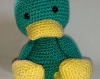 Crochet Duck, Duck Stuffed Animal, Crochet Animal, Duck Plush, Duck Nursery Decor, Stuffed Duck Plush, Amigurumi, Duckling, Stuffed Animals