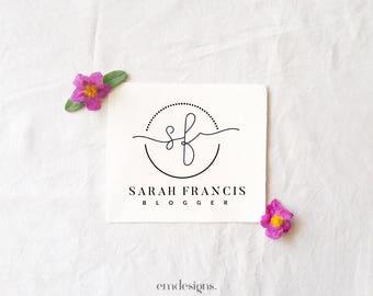 Premade logo design, Blogger logo, Logo blog, Small business logo,Affordable logo,Logo design,Branding kit, Feminine logo, Minimalist design