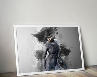 Ghost in the shell print, Ghost in the shell  poster wall art home decor