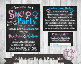 Funny party invite etsy gender reveal invitation sex party gender reveal party funny invitation he or stopboris Image collections