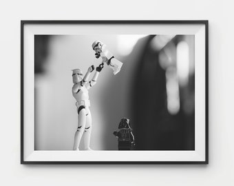Lego Stormtroopers Print, Lego Darth Vader & Stormtroopers, Lego Star Wars, Star Wars Print, Star Wars Poster, Photography Print, Star Wars