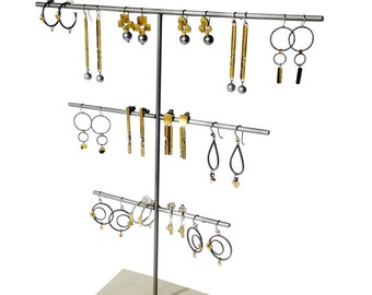 Multi-tiered Earring display, craft show display, store display, jewelry display, jewelry stand E115