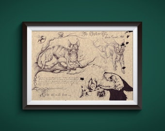 Large - Cheshire Cat - Alice in Wonderland Art Print