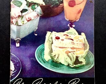 Your Frigidaire Recipes 1938 Vintage Cook Book General Motors Vintage Ephemera Vintage Advertising Scrapbook Recipes Refrigerator Recipes