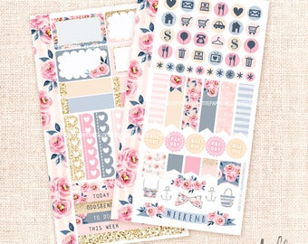 Good Vibes - Personal size sticker kit / 2 pages - functional sheets for personal planners