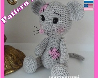 Crochet Pattern, pattern, tutorial, Amigurumi, Nini mouse