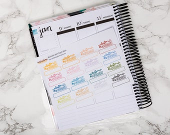 Don't forget labels / Erin Condren vertica / Happy Planner / multicolor stickers / functional stickers / planner stickers / kit add-on