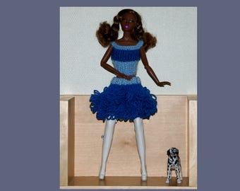 blue skirt for Barbie - knit - fashion royalty -FR2