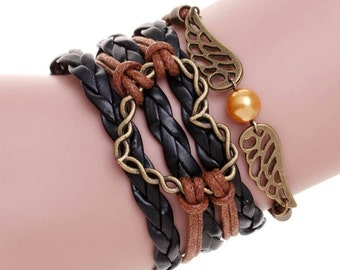 Brown & Black Heart Bracelet