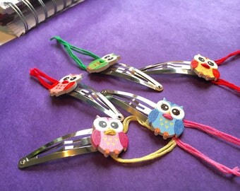 Owl Hair Clips | Easter Basket Filler | Cute Teen Girl Gifts | Cute Hair Accessories | Bright Spring Hair Clips | Teenage Girl Gifts