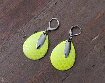 Fishing Lure Earrings, Fishing Lure, Lure Earrings, Dangle Earrings, Gift for her, Unique Gift, Nautical Jewelery