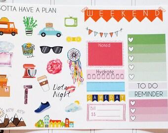 Planner Stickers Sampler Set for Erin Condren, Happy Planner, Filofax, Scrapbooking