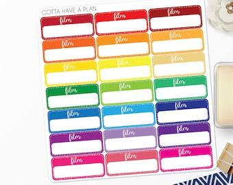 Planner Stickers Filming Reminder Label for Erin Condren, Happy Planner, Filofax, Scrapbooking