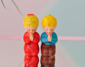 Vintage Praying Children Salt & Pepper Shaker Set - Sweet!