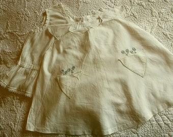 1930's French Child's Dress + Full Petticoat