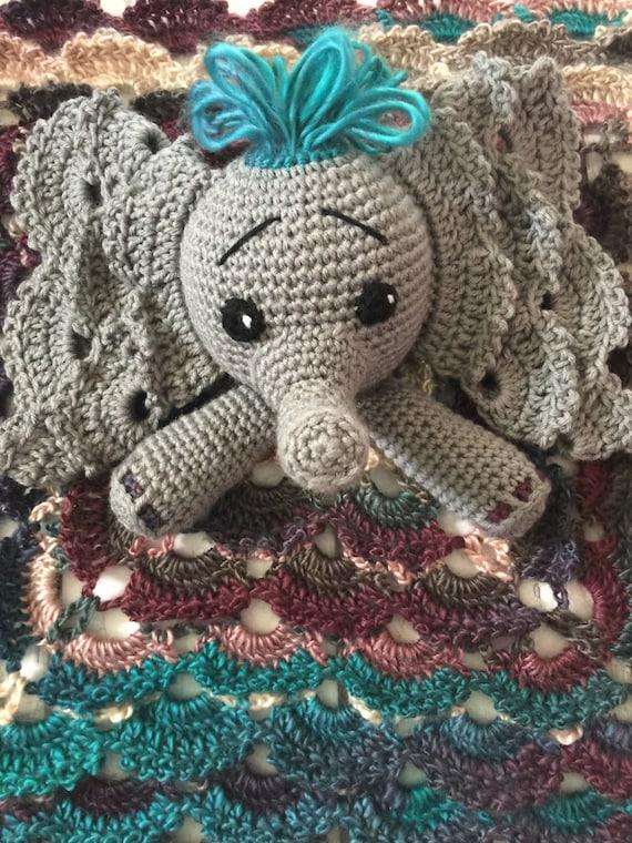 Custom Crochet Elephant Lovey Elephant by stitchesfiberworks - photo#14