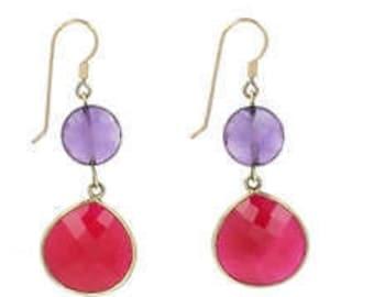 Earrings precious semi stone