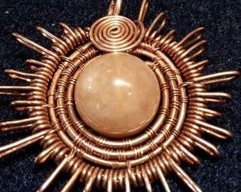 Sunstone  sun pendant