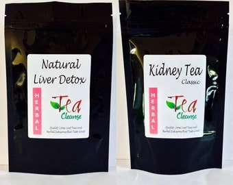 MULTIPACK - Natural Liver Detox + Kidney Tea (Classic) | 2 herbal teas that eliminate waste & toxins | Caffeine Free