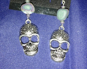 CLEARANCE *Skull Druzy Earrings