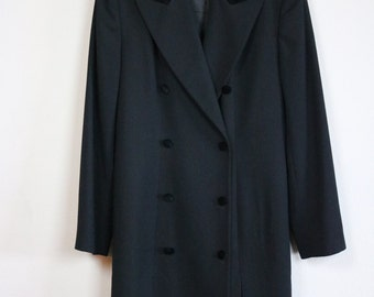 50% OFF Spring Sale | LIZ CLAIRBORNE Collection 1990s Double-Breasted Overcoat Vintage Size 14