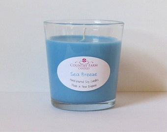 Sea Breeze Soy Candle 8.5 oz. Glass Jar Container Tumbler in Kraft Box
