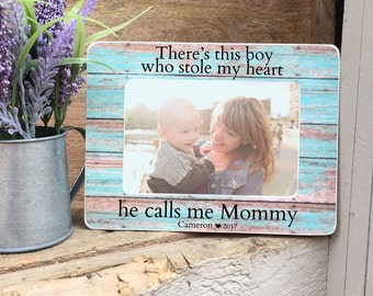 ON SALE Mother's Day Gift Frame First Mother's Day Gift  Frame For Mom New Mom 4x6 Personalized Picture Frame
