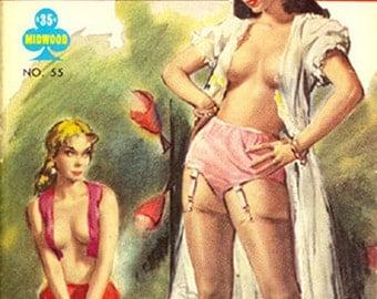 Lesbian pulp vintage art print— 21 Gay Street