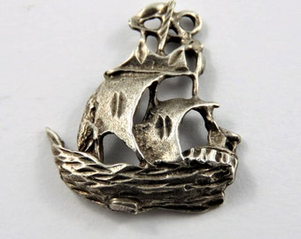 Pirate Ship Sterling Silver Charm or Pendant.