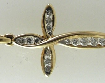 Diamond 0.50ct Cross Pendant 14k Yellow Gold